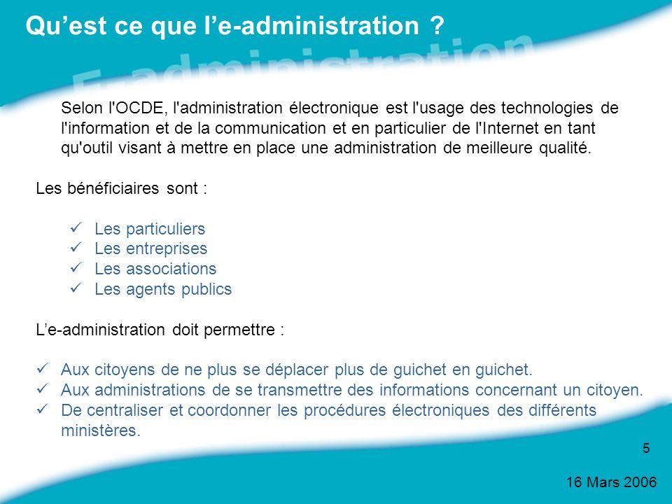 Qu'est ce que l'e-administration