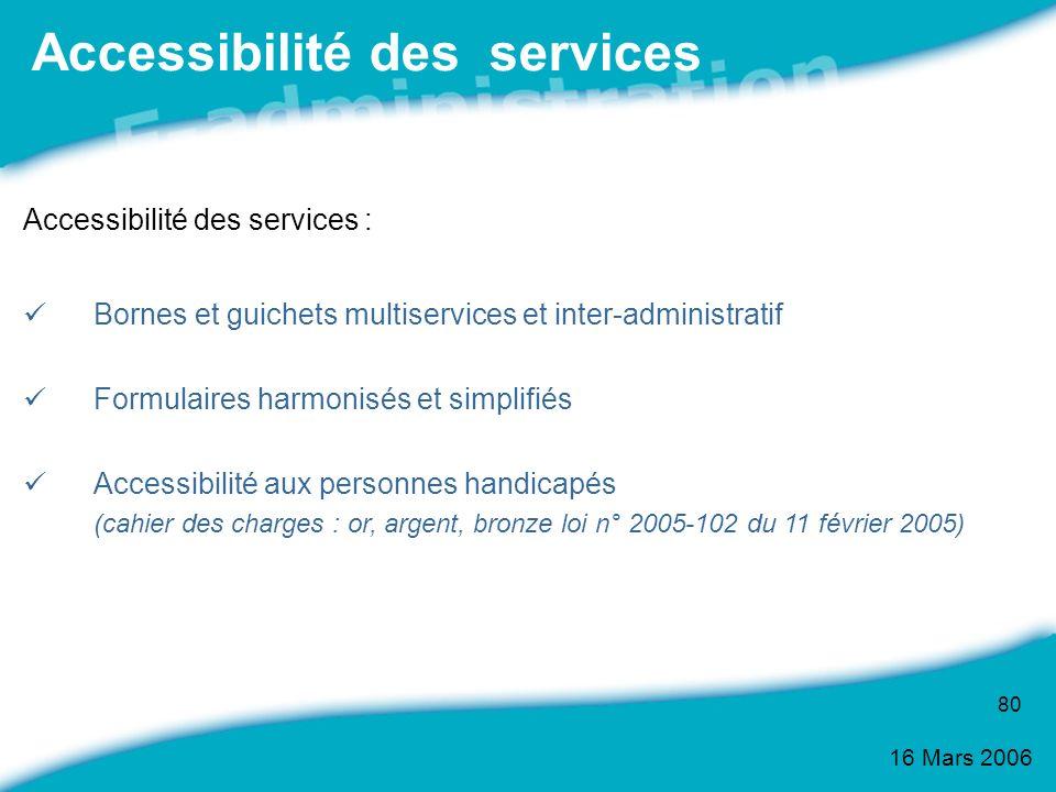 Accessibilité des services