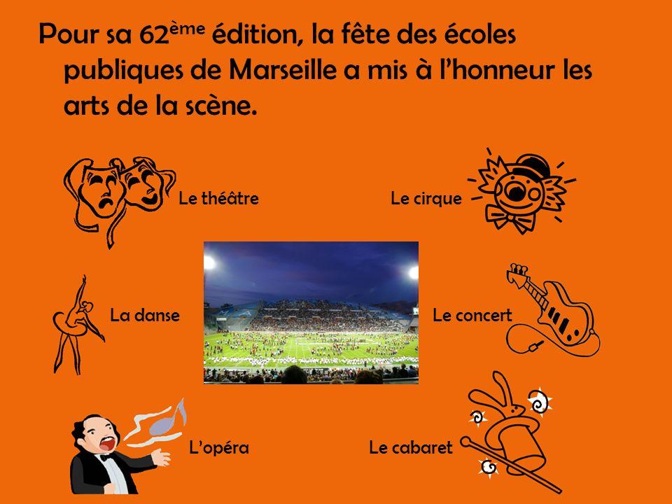 Pour sa 62ème édition, la fête des écoles publiques de Marseille a mis à l'honneur les arts de la scène.