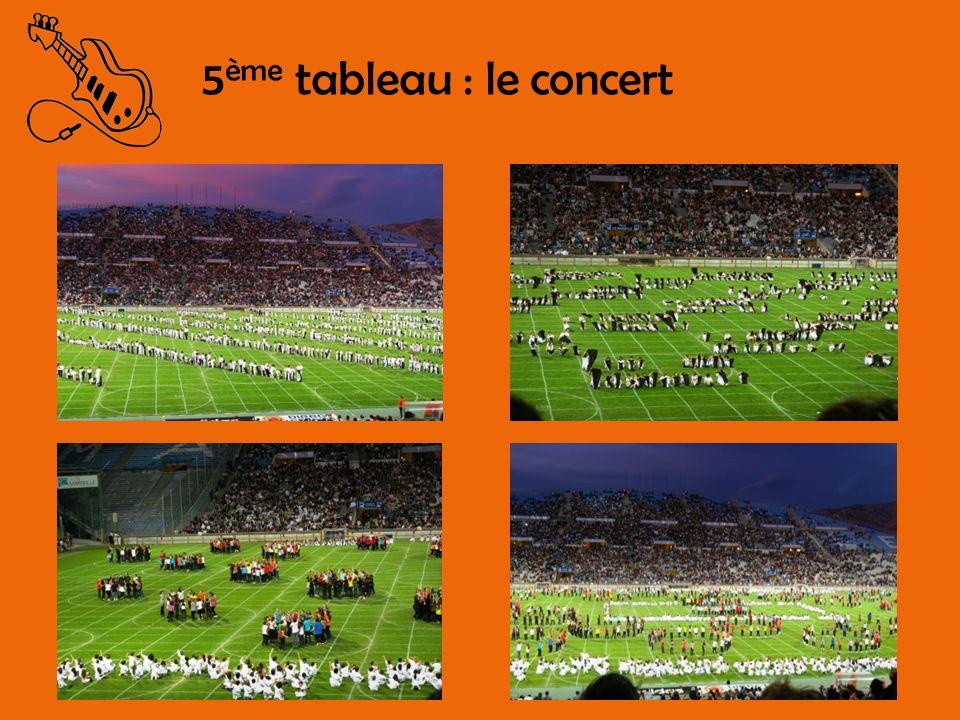 5ème tableau : le concert