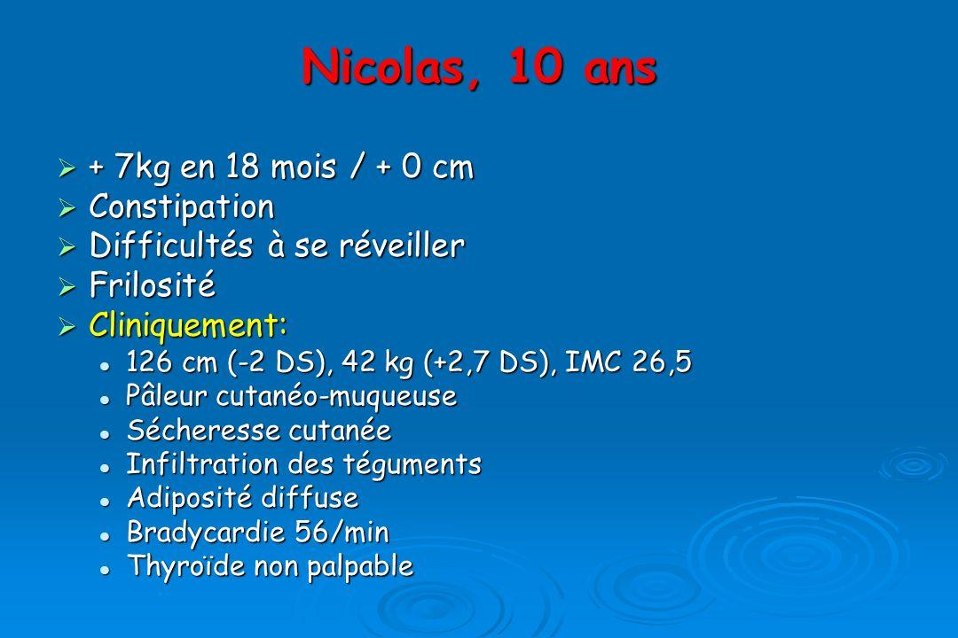 Nicolas, 10 ans + 7kg en 18 mois / + 0 cm Constipation