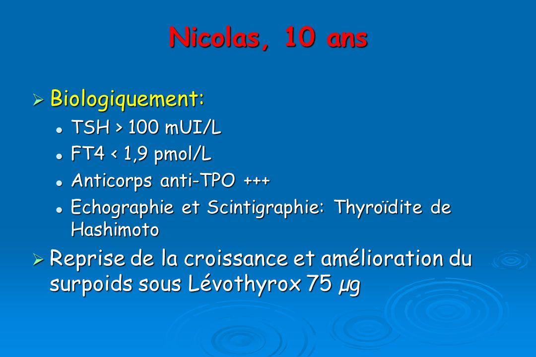 Nicolas, 10 ans Biologiquement: