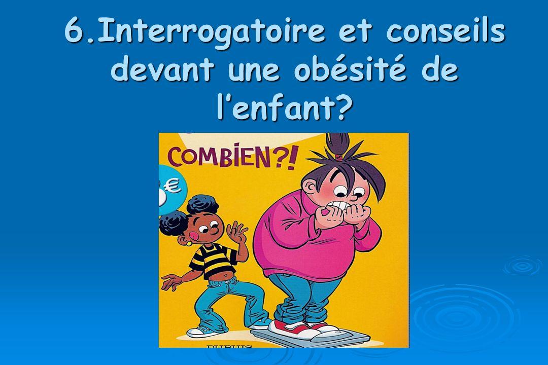 6.Interrogatoire et conseils devant une obésité de l'enfant