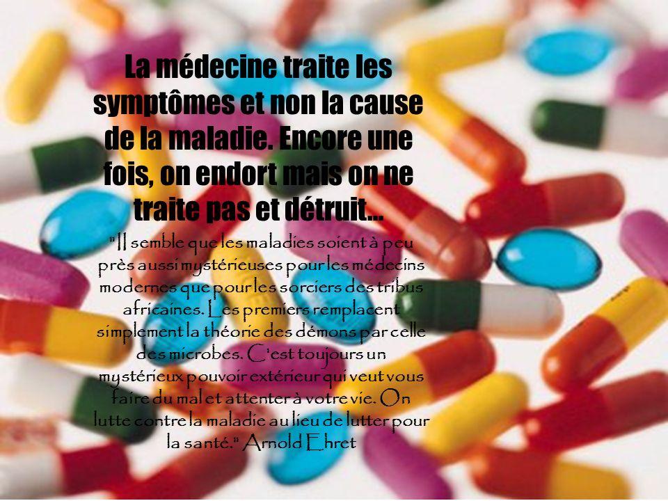 La médecine traite les symptômes et non la cause de la maladie