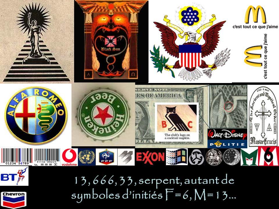 13, 666, 33, serpent, autant de symboles d'initiés F=6, M=13…