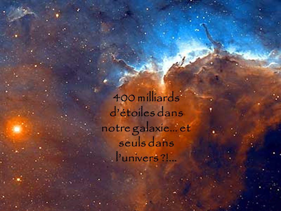 400 milliards d'étoiles dans notre galaxie… et seuls dans l'univers !...