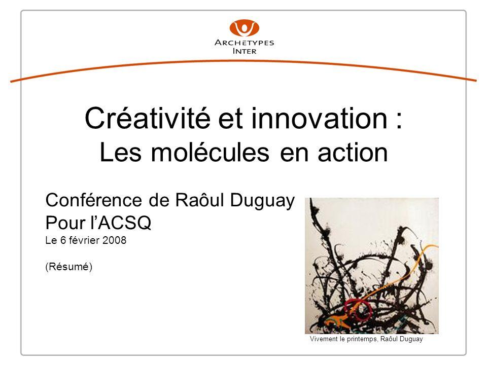 Créativité et innovation : Les molécules en action