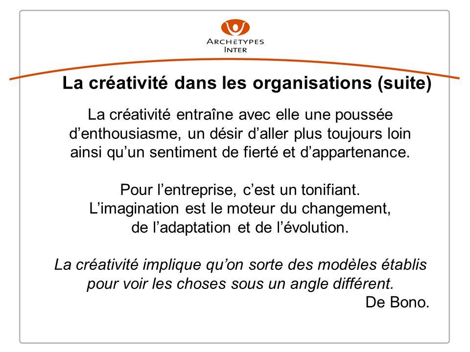 La créativité dans les organisations (suite)