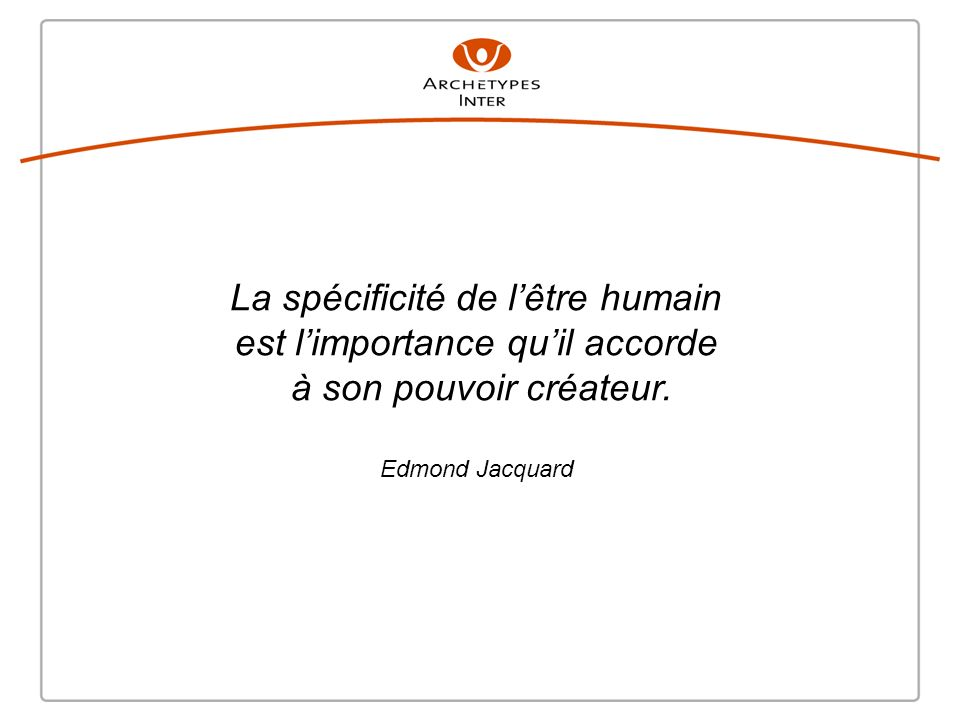 La spécificité de l'être humain est l'importance qu'il accorde