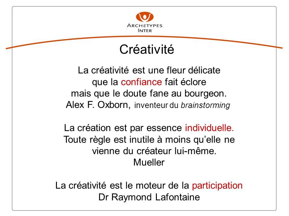 Créativité La créativité est une fleur délicate