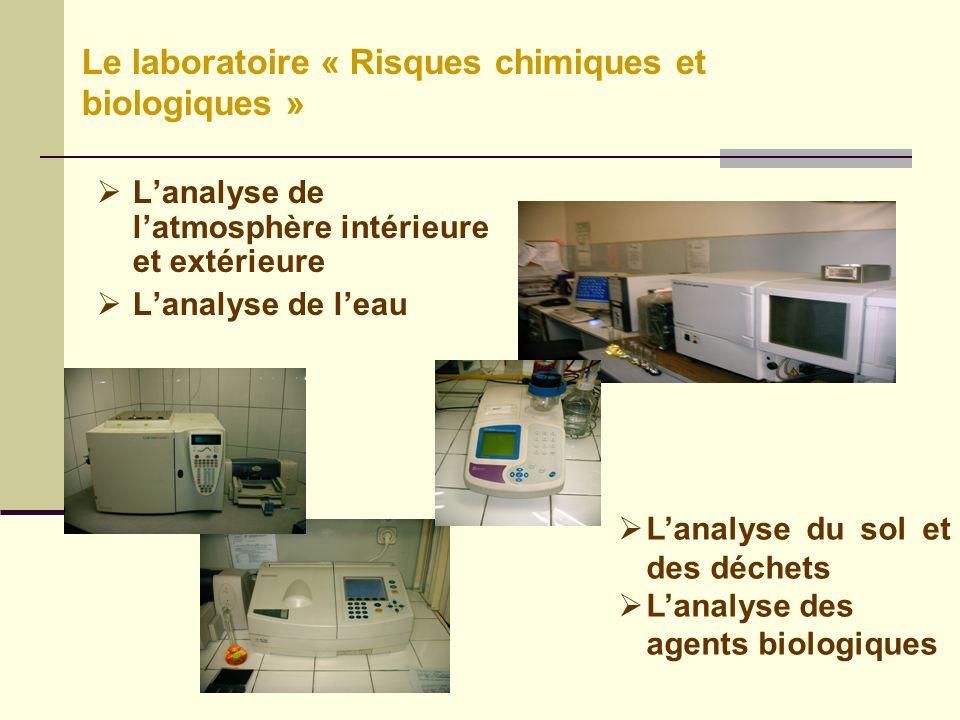 Le laboratoire « Risques chimiques et biologiques »