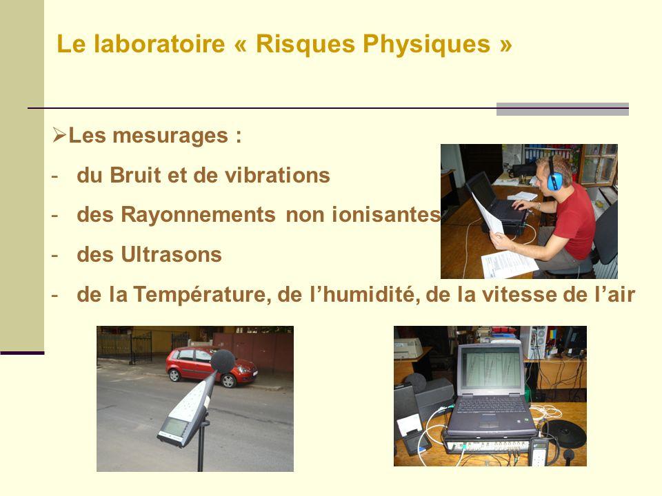 Le laboratoire « Risques Physiques »