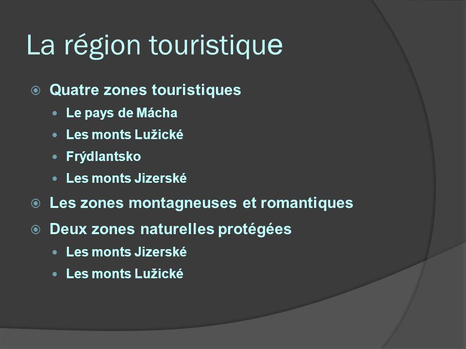 La région touristique Quatre zones touristiques