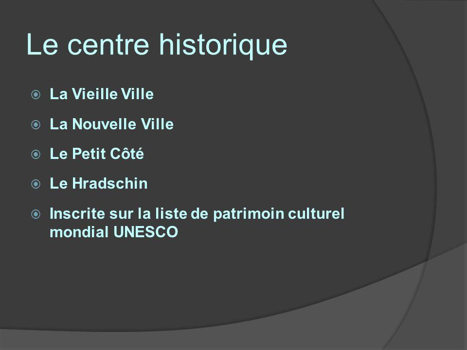 Le centre historique La Vieille Ville La Nouvelle Ville Le Petit Côté