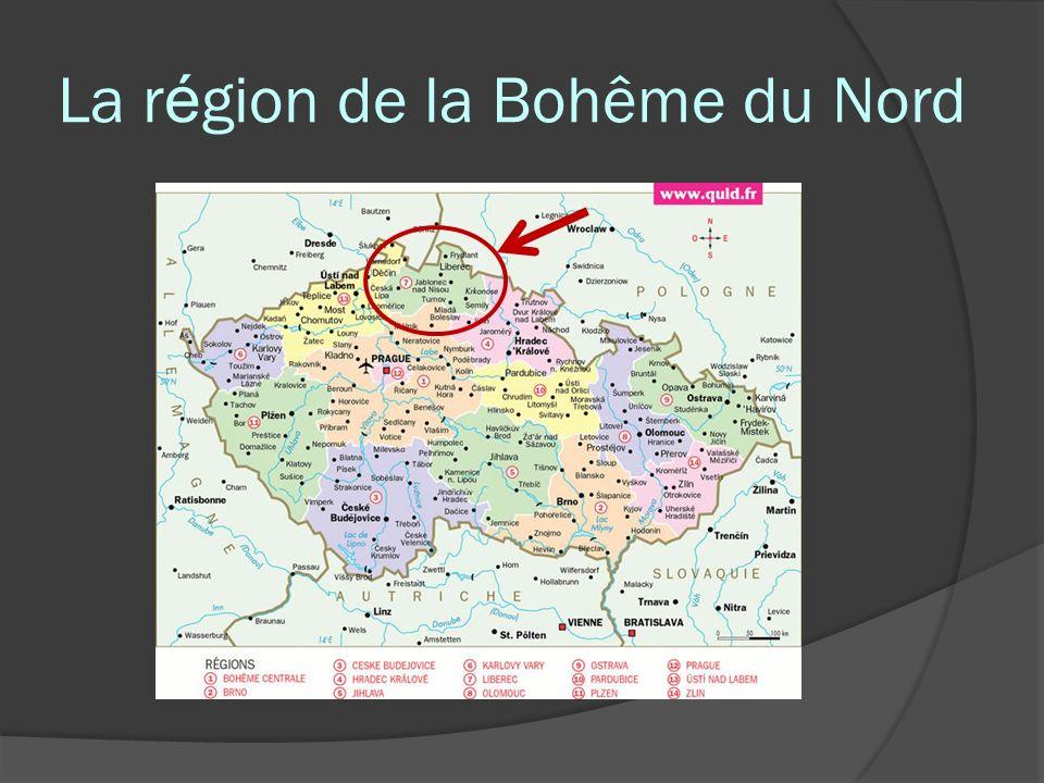 La région de la Bohême du Nord