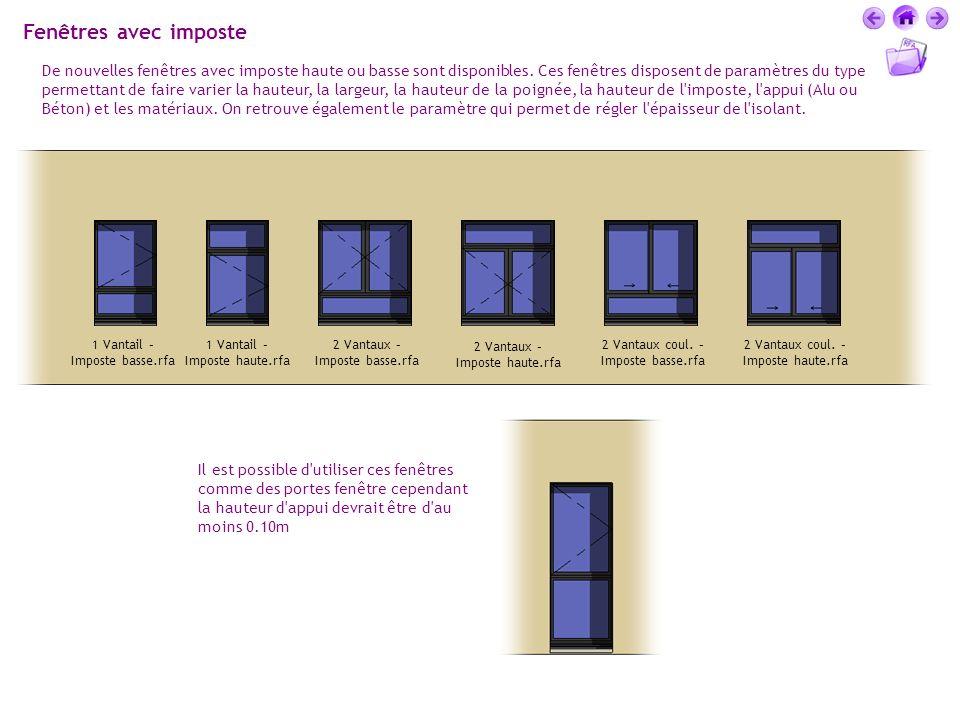 Fenêtres avec imposte