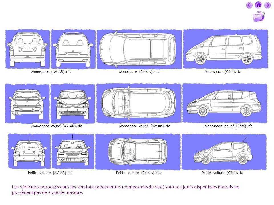 Monospace (AV-AR).rfa Monospace (Dessus).rfa. Monospace (Côté).rfa. Monospace coupé (AV-AR).rfa. Monospace coupé (Dessus).rfa.