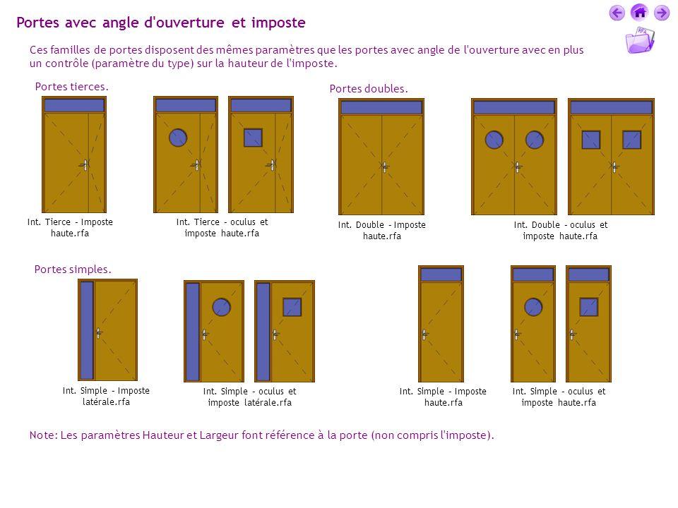 Portes avec angle d ouverture et imposte