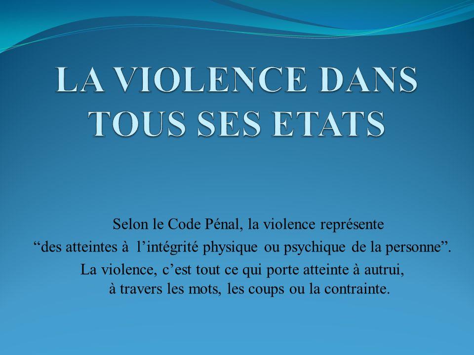 LA VIOLENCE DANS TOUS SES ETATS