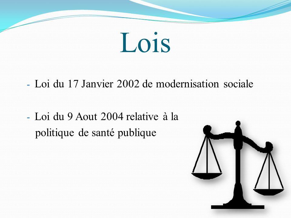 Lois Loi du 17 Janvier 2002 de modernisation sociale