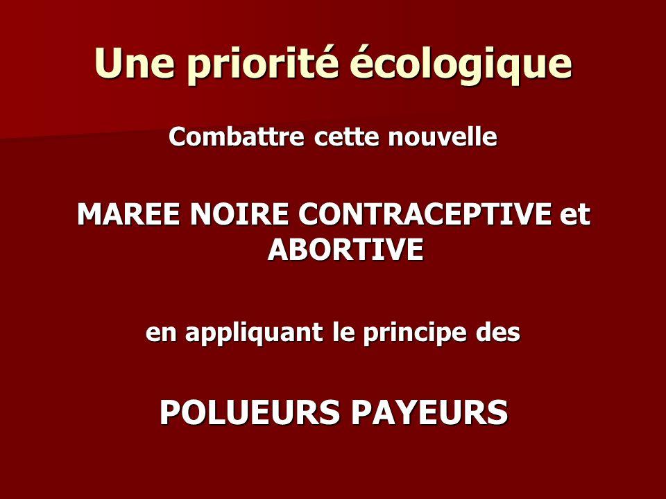 Une priorité écologique