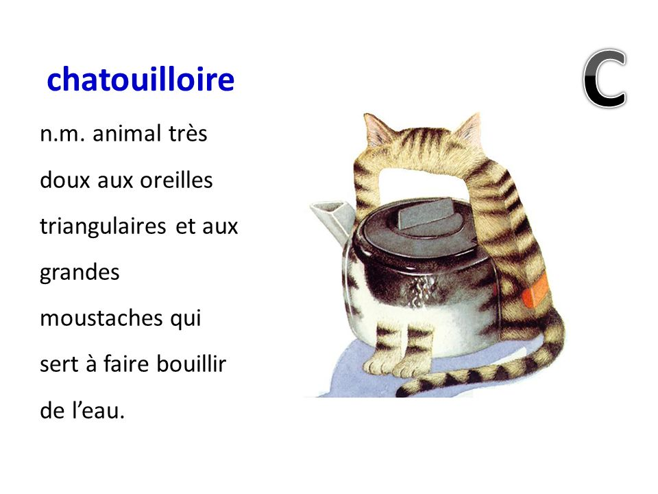 chatouilloire C. n.m.