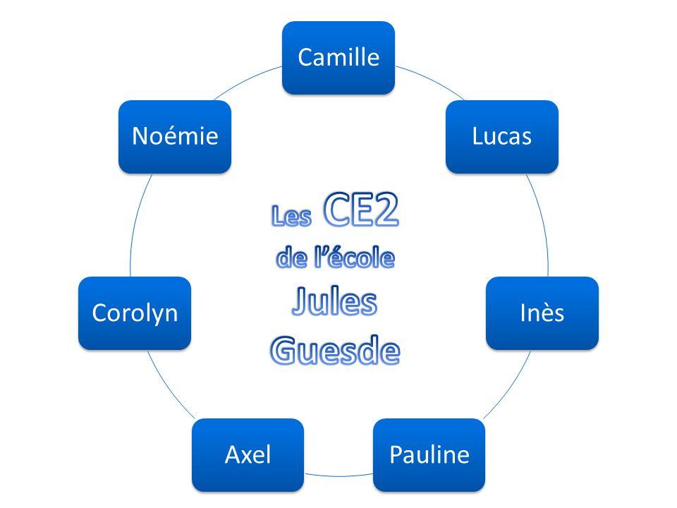 Jules Guesde Les CE2 de l'école Camille Lucas Inès Pauline Axel