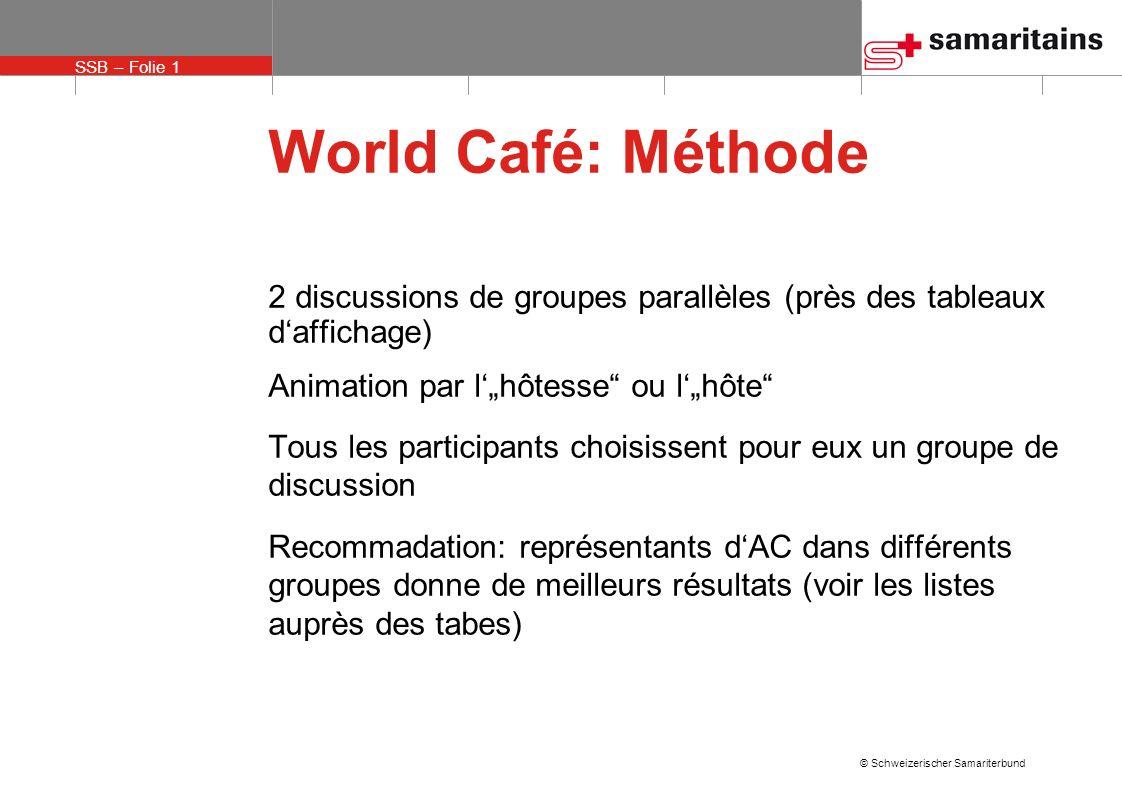 """World Café: Méthode 2 discussions de groupes parallèles (près des tableaux d'affichage) Animation par l'""""hôtesse ou l'""""hôte"""