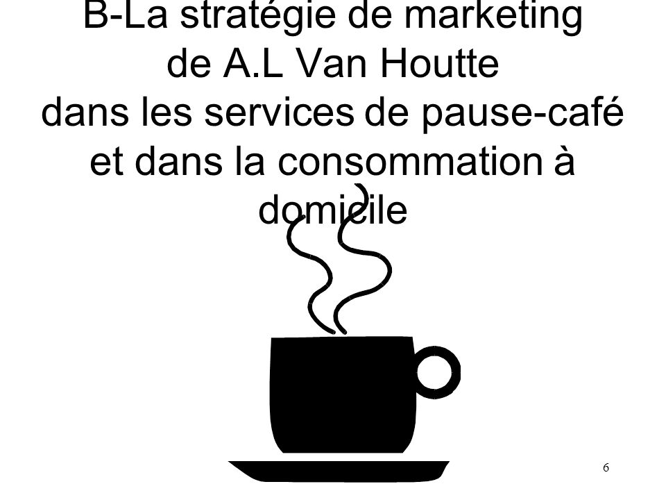 B-La stratégie de marketing de A