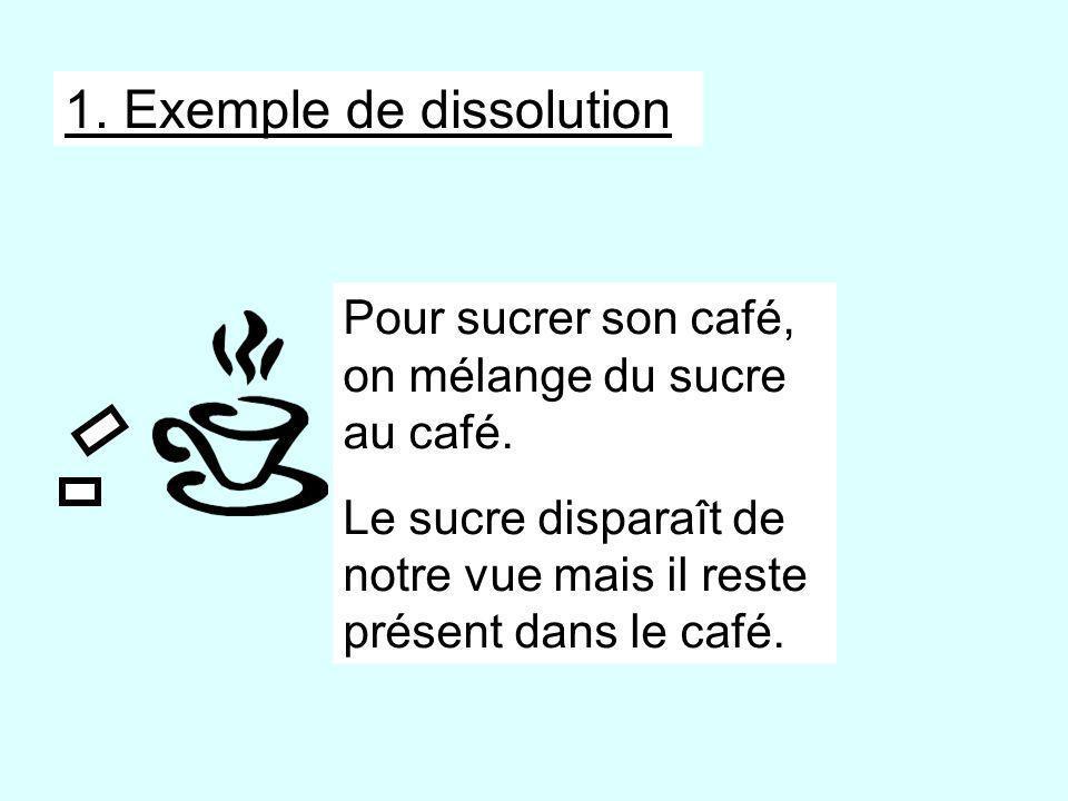 1. Exemple de dissolution