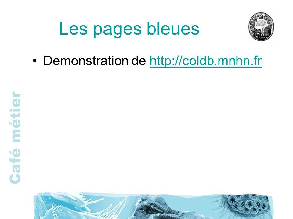 Les pages bleues Demonstration de http://coldb.mnhn.fr