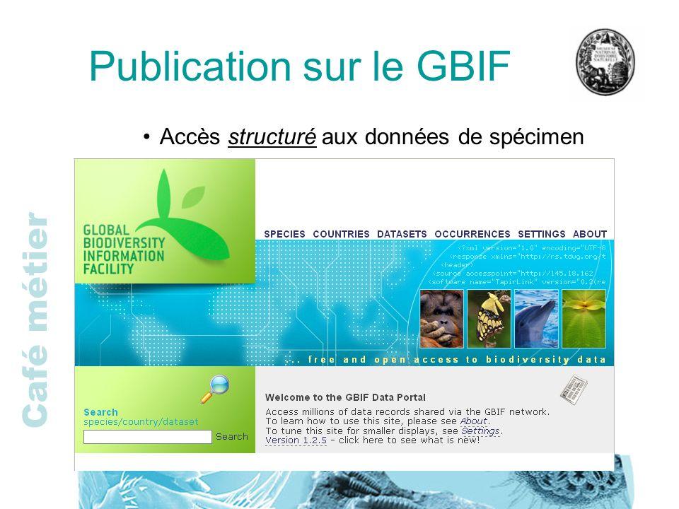 Publication sur le GBIF