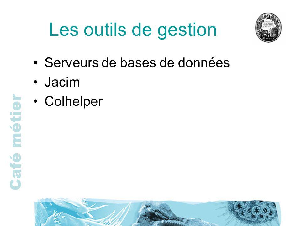 Les outils de gestion Serveurs de bases de données Jacim Colhelper
