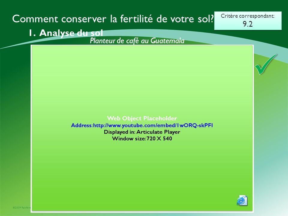  Comment conserver la fertilité de votre sol 1. Analyse du sol 9.2