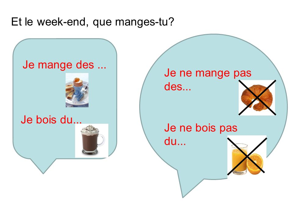 Et le week-end, que manges-tu