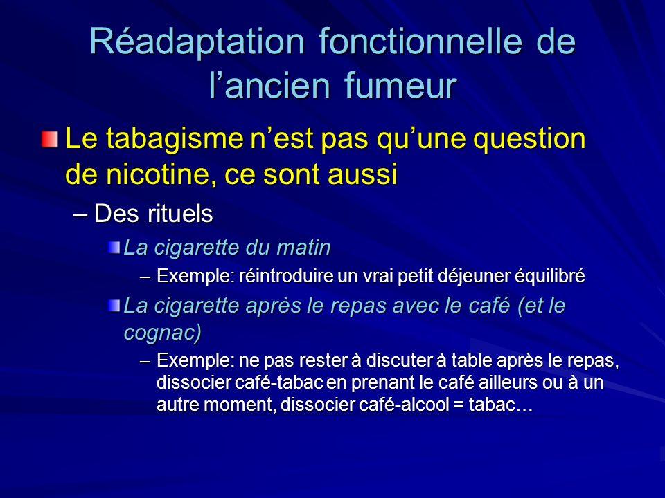 Réadaptation fonctionnelle de l'ancien fumeur