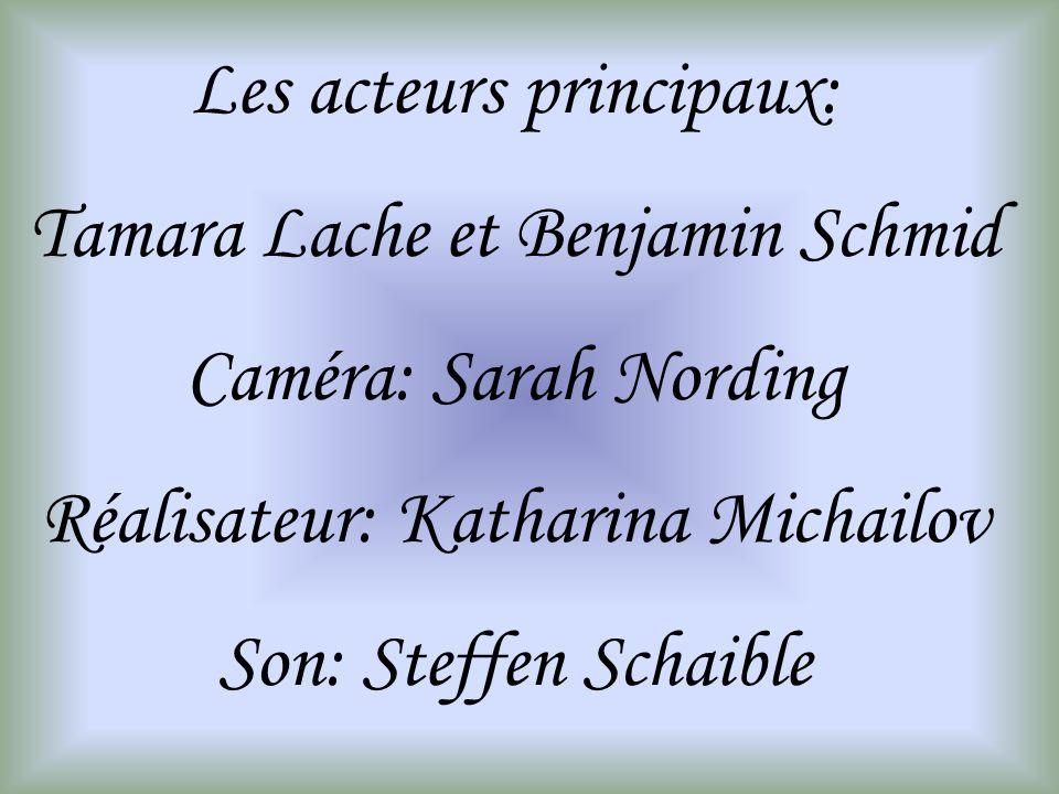 Les acteurs principaux: Tamara Lache et Benjamin Schmid