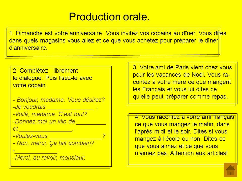 Production orale.