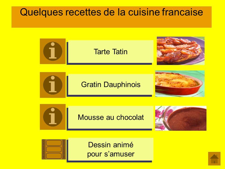 Quelques recettes de la cuisine francaise