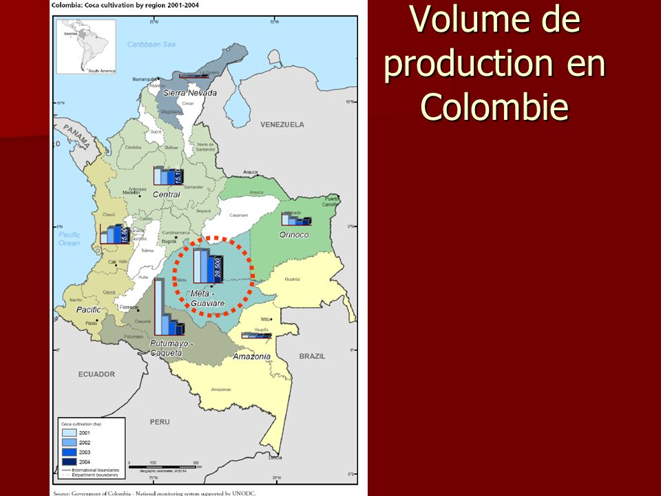 Volume de production en Colombie