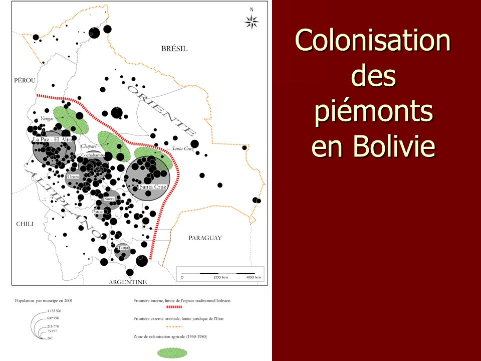 Colonisation des piémonts en Bolivie