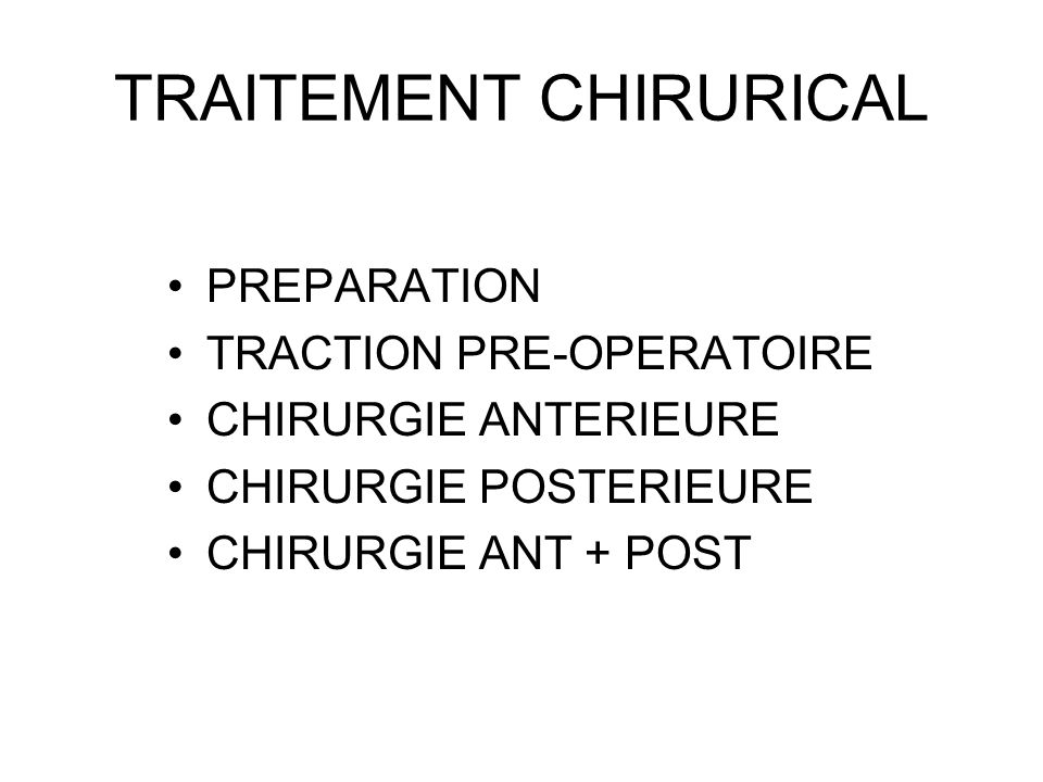 TRAITEMENT CHIRURICAL