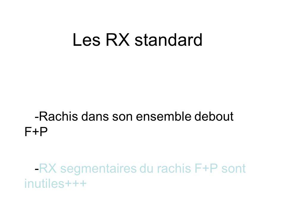 Les RX standard -Rachis dans son ensemble debout F+P