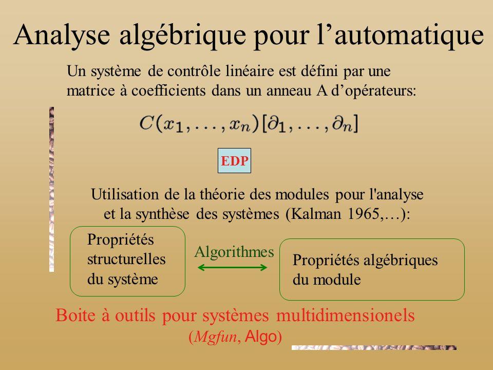 Analyse algébrique pour l'automatique