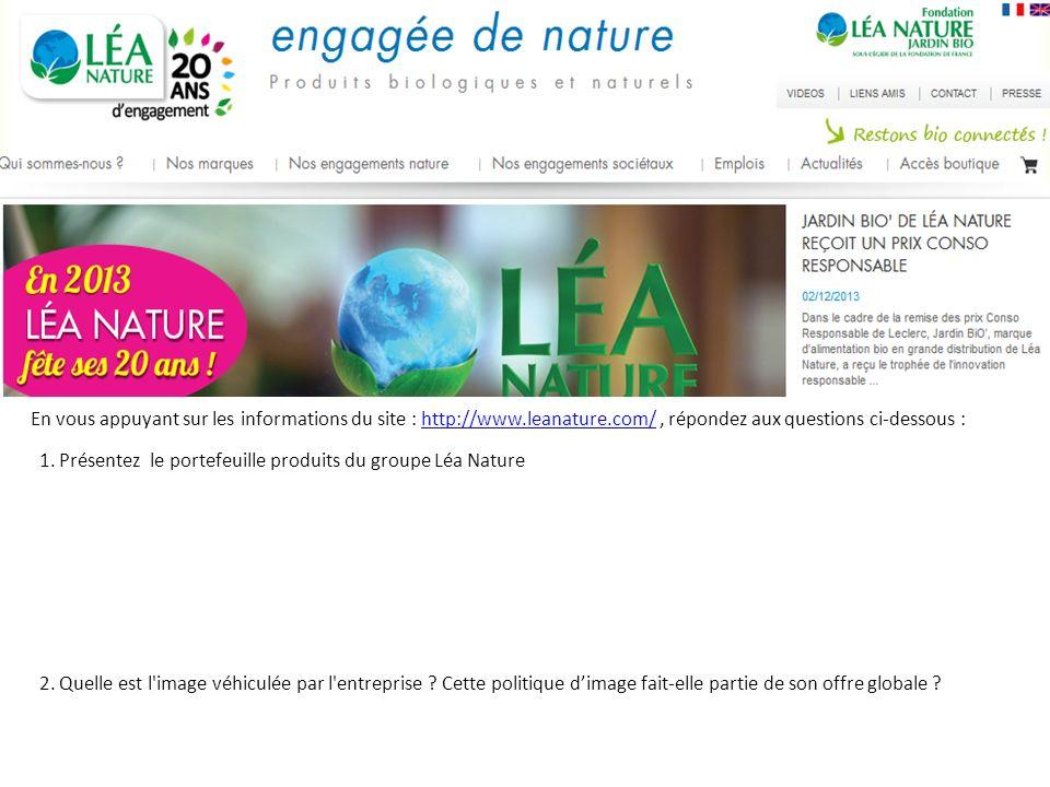En vous appuyant sur les informations du site : http://www. leanature