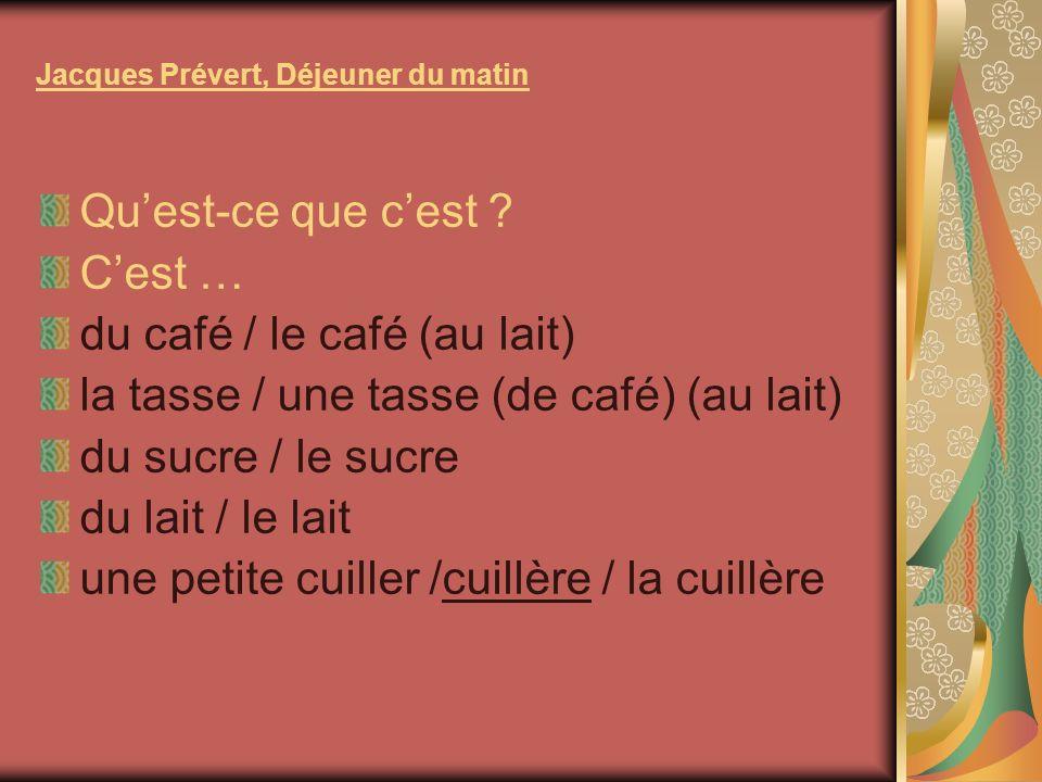 Jacques Prévert, Déjeuner du matin