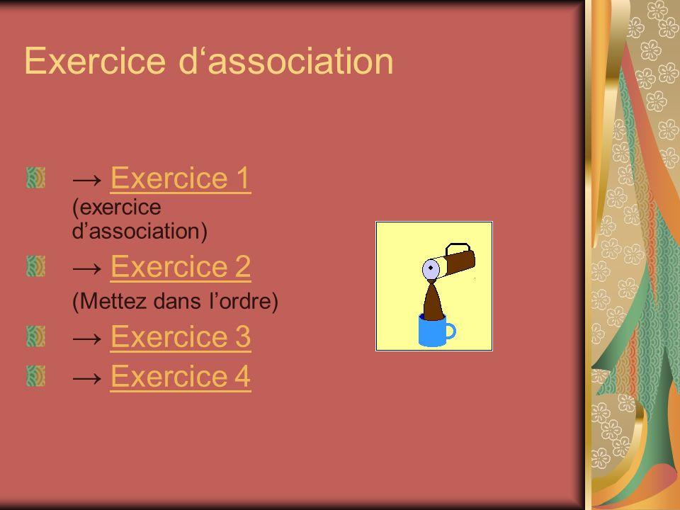 Exercice d'association
