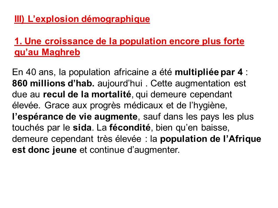III) L'explosion démographique