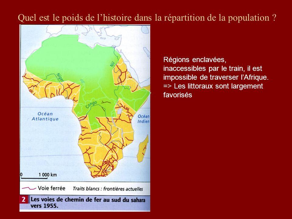 Quel est le poids de l'histoire dans la répartition de la population