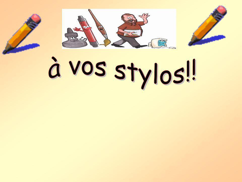 à vos stylos!!